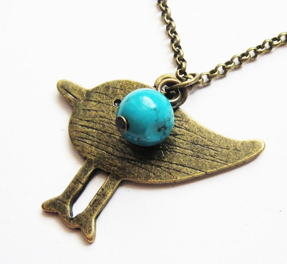 sparrow bird necklace, bird jewelry, sparrow necklace, long necklace, mommy mother mama bird, long chain, green, blue, bird necklace