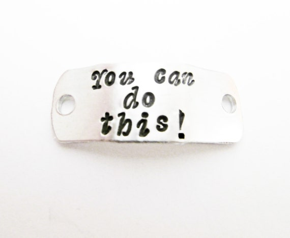 Shoe Tag, Personalized Running Shoe Tag, You can do this, Marathon Motivational Inspirational Shoe Tag, ID shoe tag, custom, shoe clip charm