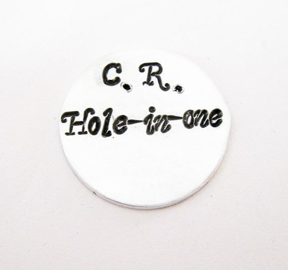 Personalized Golf Marker, Custom Golf Marker, Hole in one, funny, poket token handstamped hand stamped men gift, customization available