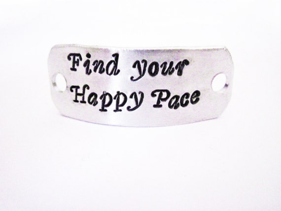 Personalized Shoe Tag Personalized Running Shoe Tag, Marathon Motivational Inspirational Shoe Tag, Find Your Happy Pace, ID shoe tag, custom
