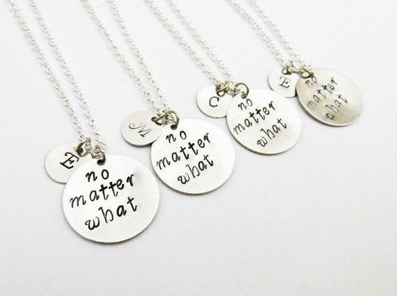 4 best friend necklace no matter WHAT, initial necklace personalized jewelry, gift for best friends jewelry friendship four besties jewelery