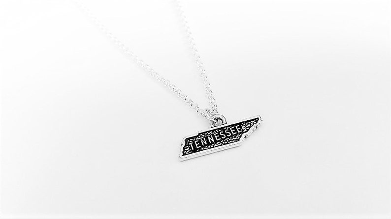 tennessee state necklace home state necklace map charm silver necklace personalized gift for her Tennessee necklace home state jewelry