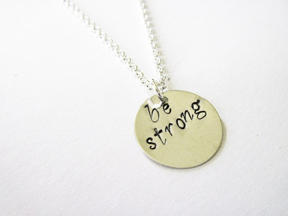 Weighlifter Necklace Bodybuilder Necklace, Fitness Jewelry  Be Stronger Every Day Necklace Weightloss Motivation Inspirational Quote Jewelry