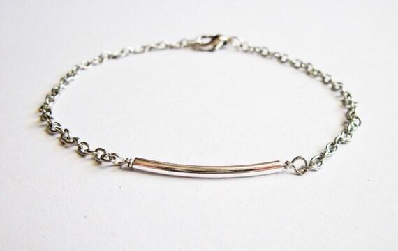 silver bar bracelet, friendship bracelet, subtle bracelet, minimalist jewelry, Dainty Bracelet, minimalist bracelet, barely there