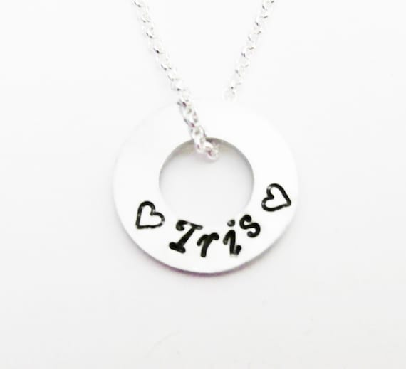 Mommy Necklace, Childs Name, Personalized Names Jewelry, Hand Stamped Family Washer, Grandma Gift, Infinity, heart, silver, children names