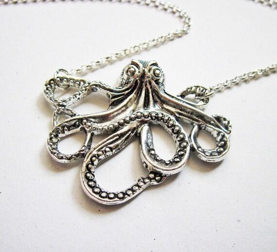 Octopus Tentacles Custom Guitar Pick Pendant Necklace Keychain