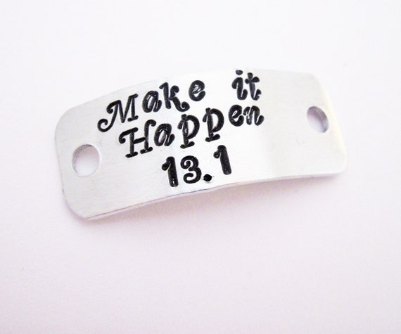 Marathon Gifts, 26.2 13:1 Make it Happen Run Charms, Run Gift, shoelace plates, Personalized Shoe Tag custom Running Shoe Tag, Motivational
