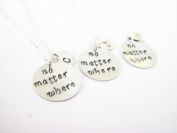 3 best friend necklace long distance, initial necklace personalized jewelry, gift for best friends jewelry friendship three bff necklace
