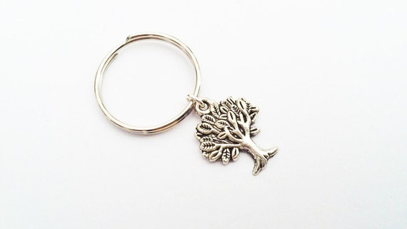 Tree Keychain, Tree of Life Keychain, tree of life pendant, Tree charm, Yoga keychain, yoga teacher gift, family tree keychain, mothers day