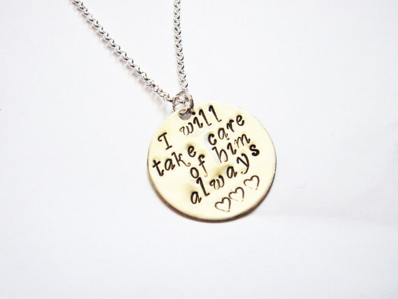 Mother In Law Necklace, New Mother in Law, Mothers Day, Mother of the Groom Gift Necklace, In Law Gift, I will take care of him always charm