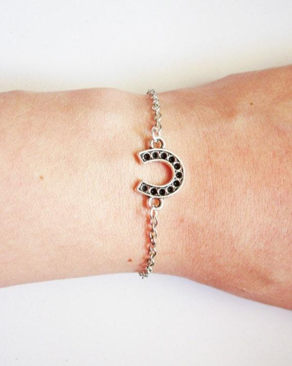 Horseshoe Bracelet, horse shoe bracelet, Western Wedding, Silver Lucky Bracelet, Good Luck Jewelry, Make A Wish, Equestrian Jewelry
