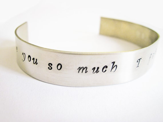 SALE - Personalized Cuff Bracelet - Aluminum Bracelet - Hand Stamped Cuff - Handstamped Bracelet - Personalized Bracelet - Mothers Day
