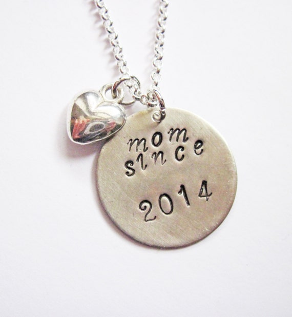 Personalized Mother Necklace, mom necklace, mom gift, mom jewelry, hand stamped necklace, mom since, new mom, new mother