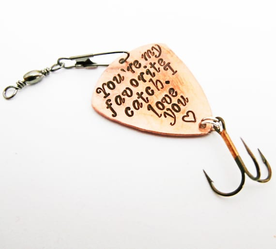 Personalized fishing lure spoon You're my favorite catch Gift for Men 11th Anniversary Husband Gift Birthday Boyfriend 10th 1st 7th copper