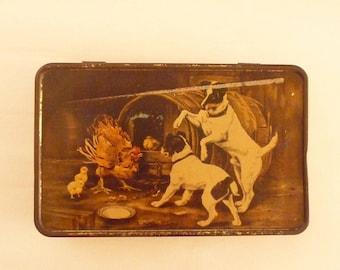Vintage Tin Box MacRobertson's Tin Terrier Lithograph The Intruders