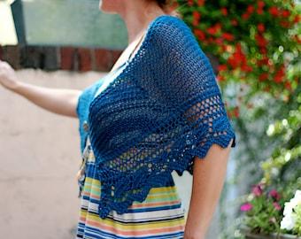 MORE COLORS The Selene Shawl - Hand Knit Shawl - Silk Shawl - Wedding Shawl - Lace Shawl - Button Wrap - Spring Shawl - Bohemian Shawl