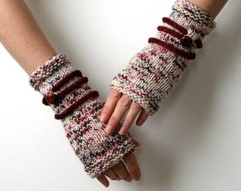 Ready to Ship: Button Gauntlets - Hand Knit Gloves - Fingerless Gloves - Hand Warmers - Merino Gloves - Unisex Gloves - Amy LaRoux