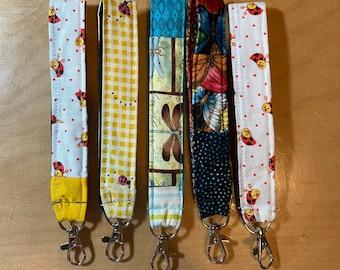 Ladybug Dragonfly Butterfly Keychain Key Chain Key Fob Scrappy Gift Fabric Washable