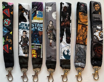 Star Wars Keychain Key Chain Unique One of a Kind Gift Fabric Washable