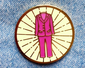 Pantsuit Pin Purple || hard enamel pin, pantsuit pin, resist pin, feminist pin, pink pin, feminist gift, feminist enamel pin