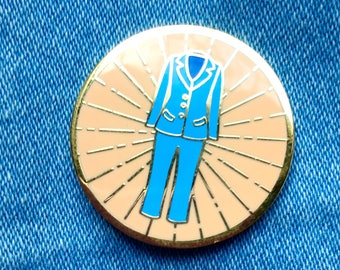 Pantsuit Pin Blue || hard enamel pin, pantsuit pin, resist pin, feminist pin, pink pin, feminist gift, feminist enamel pin
