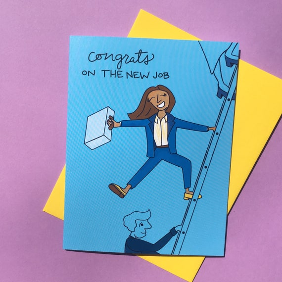 Congratulations on the new job greeting card support card etsy image 0 m4hsunfo