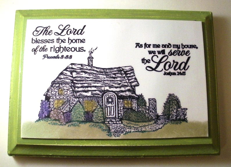 7a5dcc3144b Home Verse Plaque. As for me and my house we will serve the