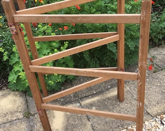 Old Vintage Wooden Clothes Airer or Clothes Horse