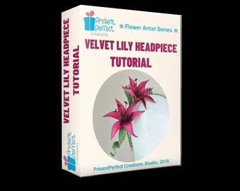 Velvet lily tutorial, fabric lily DIY instructions, lily template, fabric lilies, millinery lily flower instructions