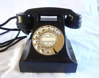 Brass Dial Bakelite Telephone