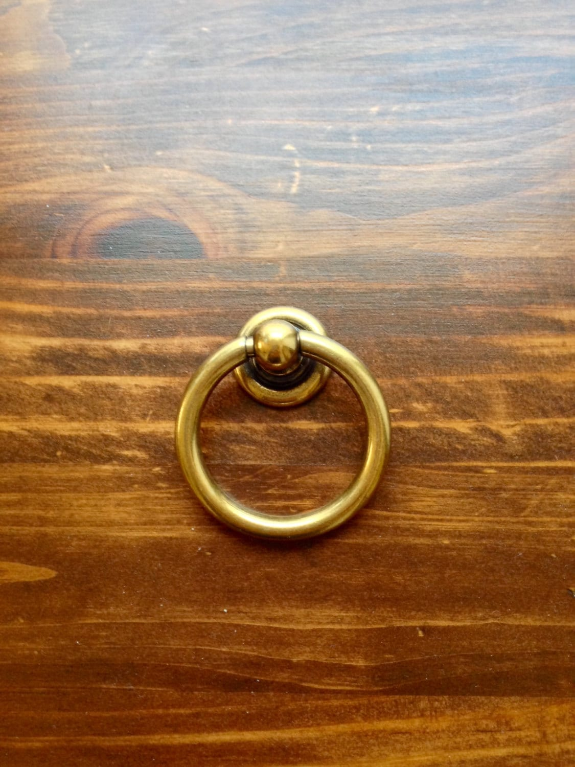 Plain Brass Ring Pulls Hardware Cabinet Pull Drawer Pull from ...