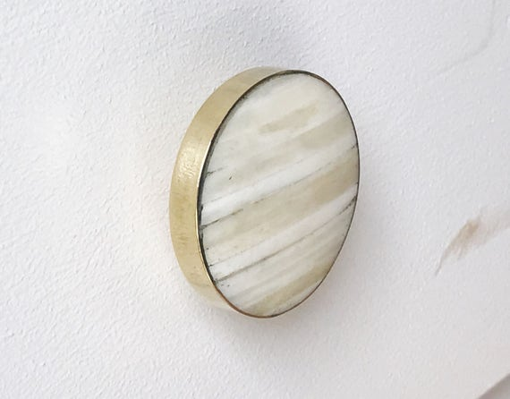 Brass Gold Drawer Knobs With White Stone / Brass Drawer Pulls   Etsy