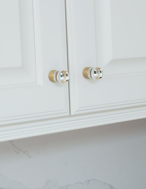 Brass Cabinet Knob Cylinder Satin, Brass Cabinet Pulls And Knobs