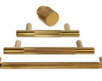 """Brass Drawer Pull  Forge Hardware """"Texture"""" Drawer Pulls and Knobs in Brass - Round Drawer Handles"""