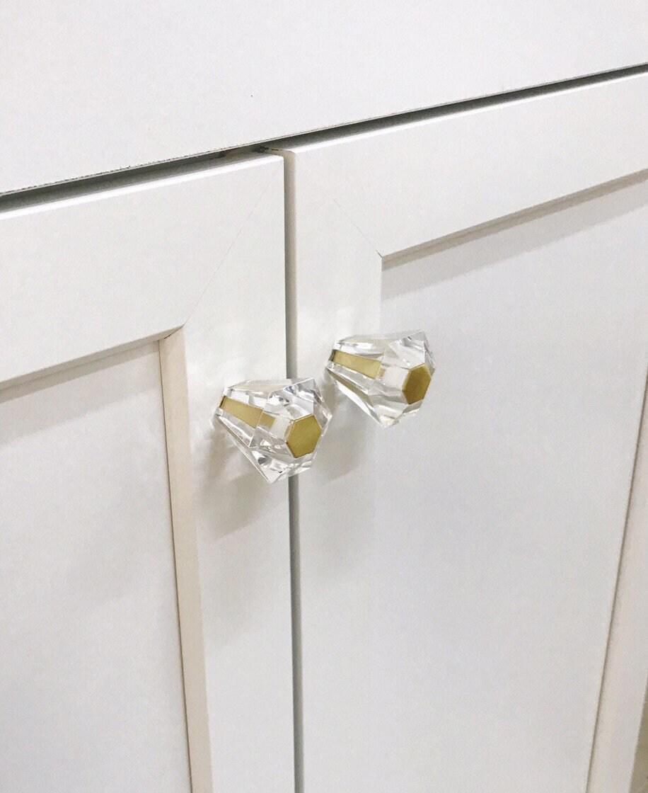 Linda Lucite Schrank Messing Kabinett Küche Messing Pull Knopf | Etsy