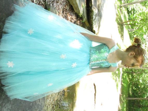 Frozen Gefrorene Kostüm Elsa SnowEtsy Kleid F31JTlKc