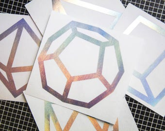 Platonic Solids decal pack (5)