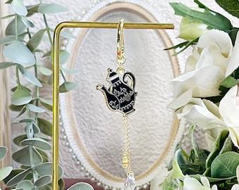 PREORDER - Wonderland Tea Pot Dangle Ear Cuff | Enamel Pin | Cute and Kawaii | Multipurpose Accessories
