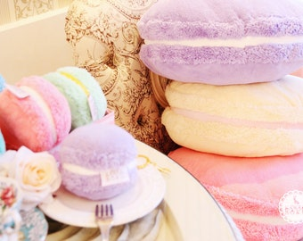 Fluffy Macarons cushions |Afternoon Tea and Dessert | Cute and Kawaii | Gift & Accessories