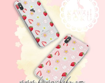 Pre-order - Strawberries Romance Phone Case | Cute and Kawaii | Gift & Accessories