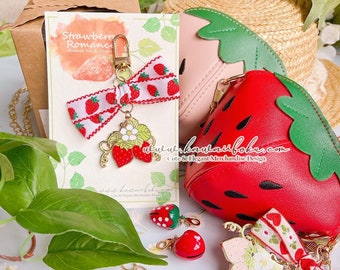 Strawberries Romance Multifaction Pin | Enamel Charm | Cute and Kawaii | Gift & Accessories