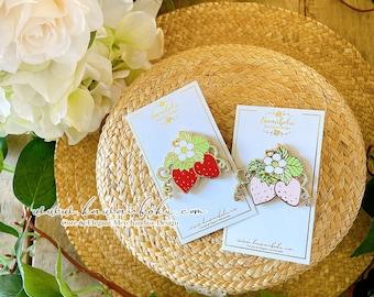 Strawberry Romance Pin | Enamel Pin | Cute and Kawaii | Gift & Accessories
