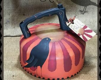 Whistling Crow Tea Kettle digital pattern