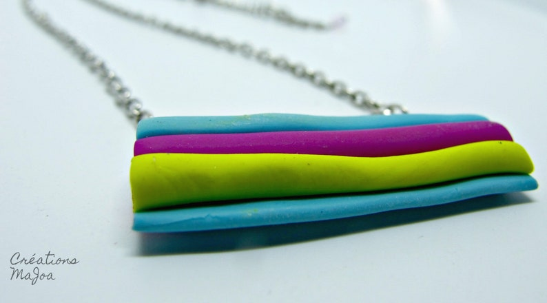 Collier /'/'r\u00e9glisse/'/' en p\u00e2te polym\u00e8re  Licorice necklace made of polymer clay