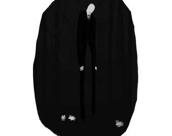 Slender Man Portrait Illustration Art Print b373c8d949