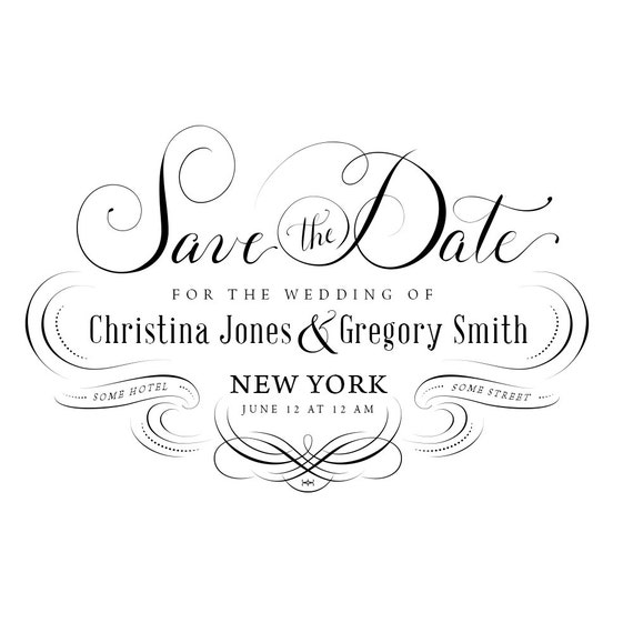 Hochzeit Einladung Psd Außer Dem Datum Schreibschrift