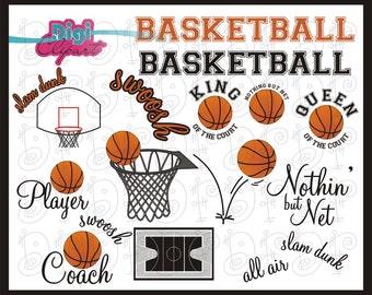 Basketball BBall Net Hoop Court Sports Clip Art INSTANT DOWNLOAD