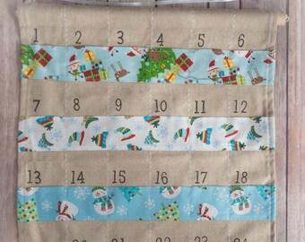 Advent calendar - Wall hanging - Christmas countdown - Crafty Christmas - Handmade Christmas - traditional Christmas – hessian Christmas