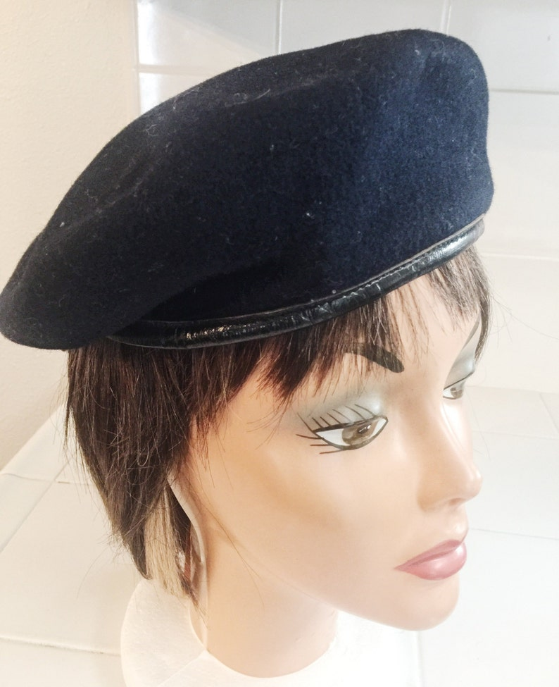 4b91cf2afd120 Darling Beret Style Hat Ribbon Tail Leather Trim Fully
