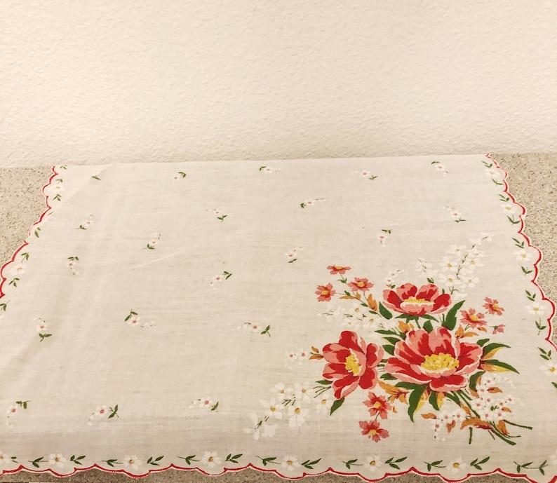 Vintage Accessories ON SALE Vintage Three Women/'s Floral Handkerchiefs Home Decor.
